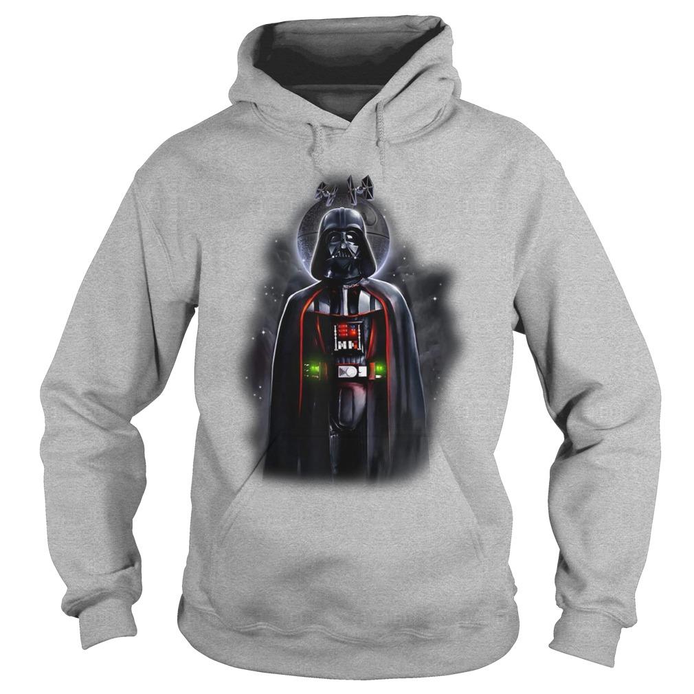 Star Wars Darth Vader With Death Star Portrait hoodie