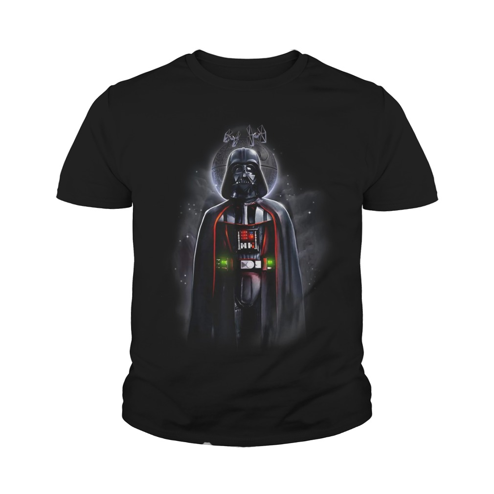 Star Wars Darth Vader With Death Star Portrait youth tee