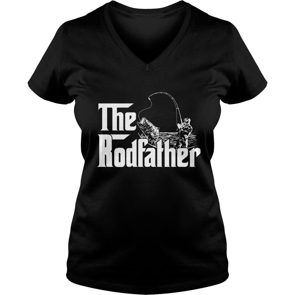 The rodfather fishing lady v-neck
