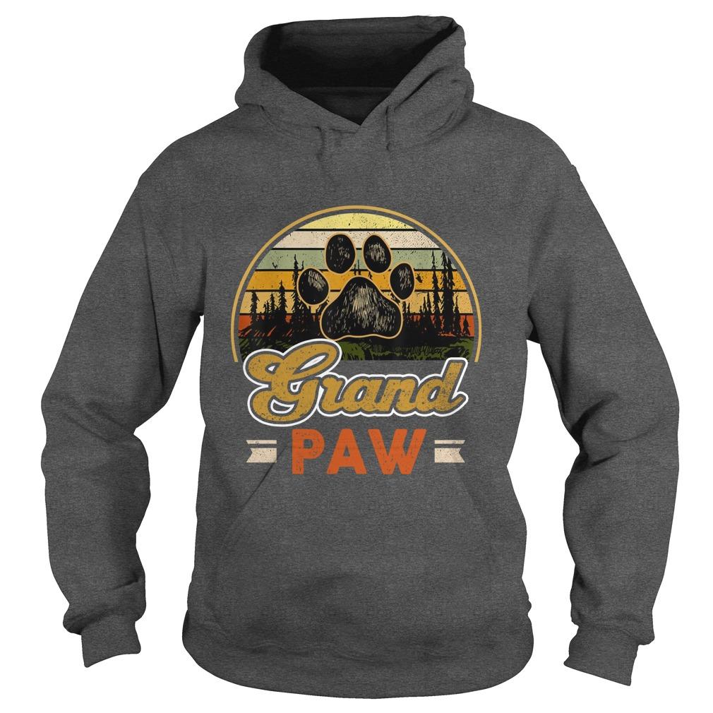 Vintage grand paw dog lover hoodie