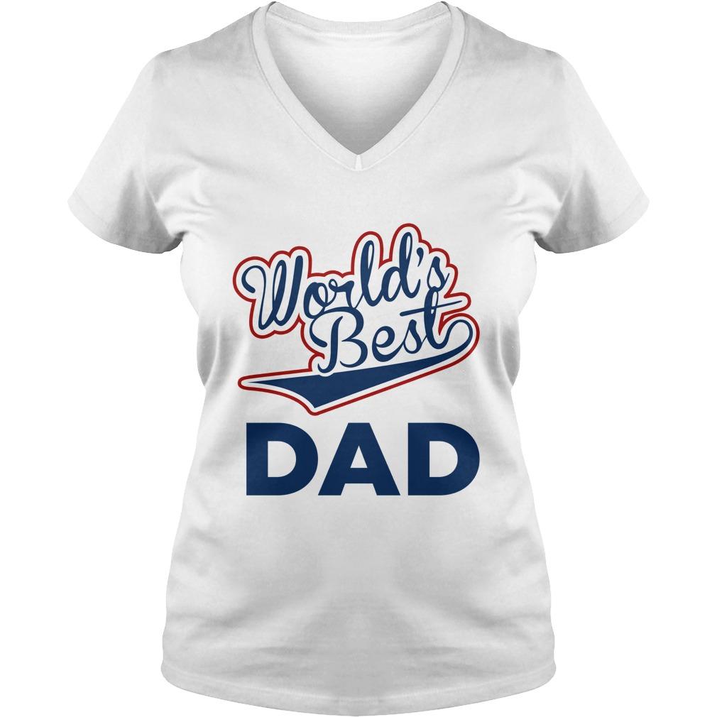 World's best dad lady v-neck