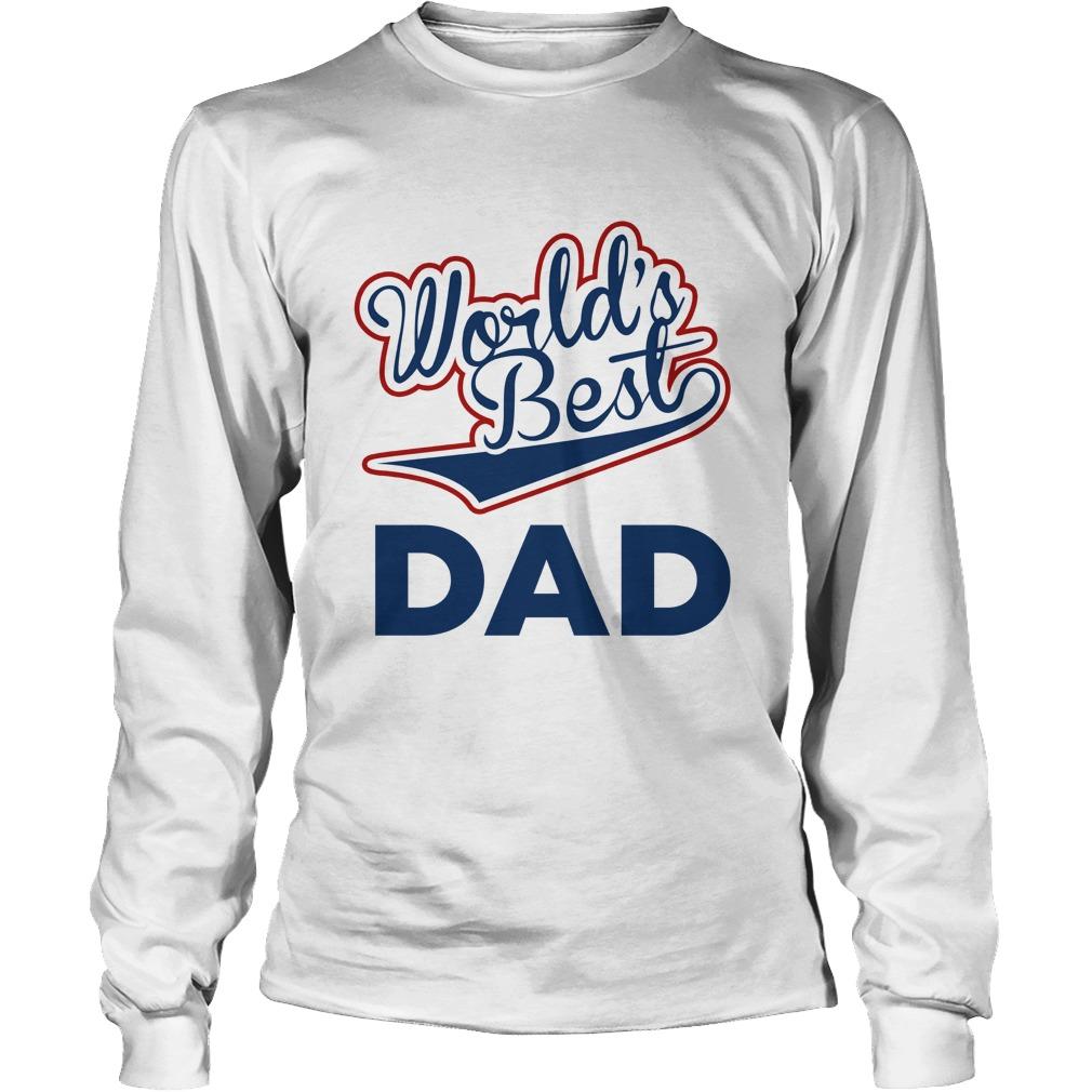 World's best dad longsleeve tee