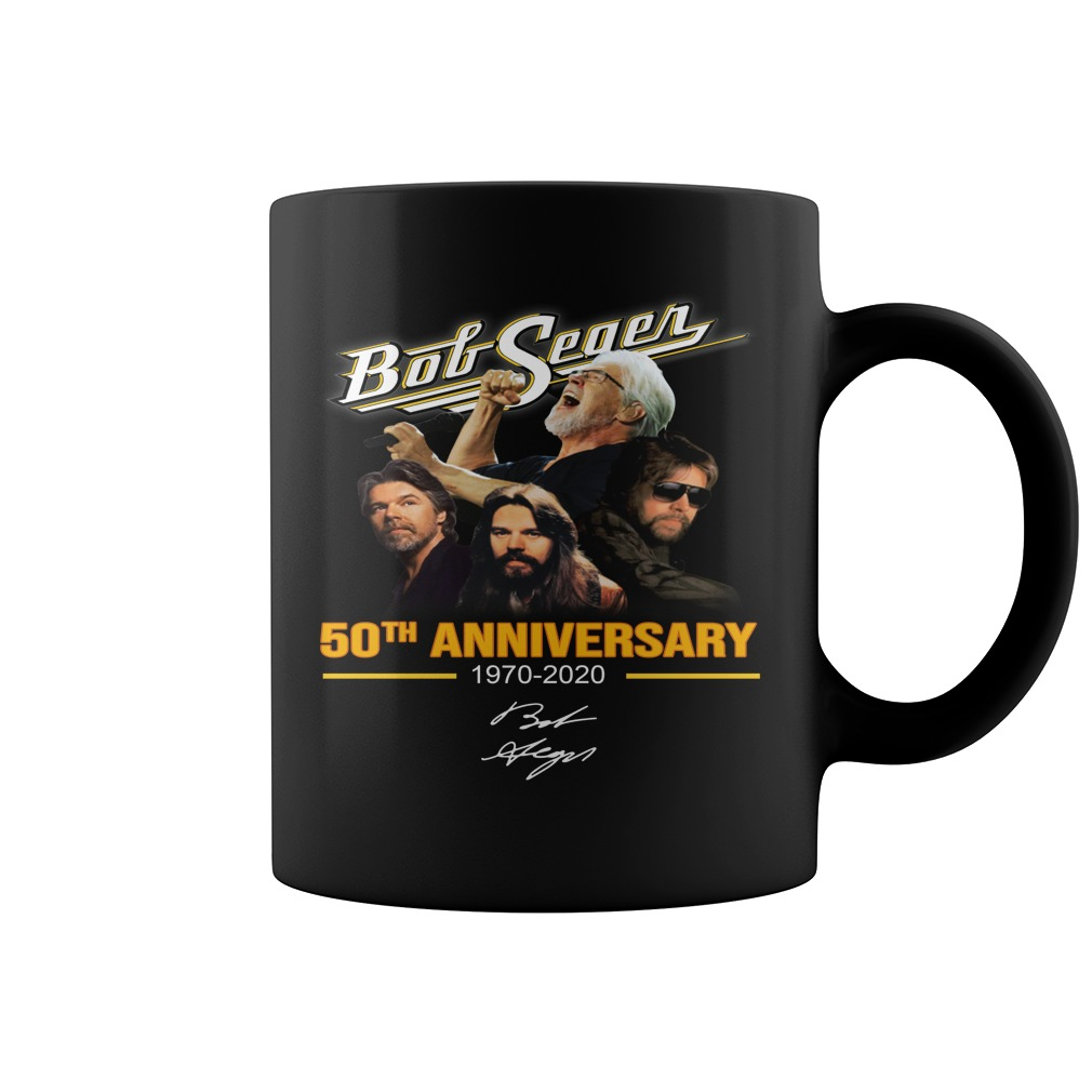 Bob Seger 50th anniversary 1970-2020 signature mug