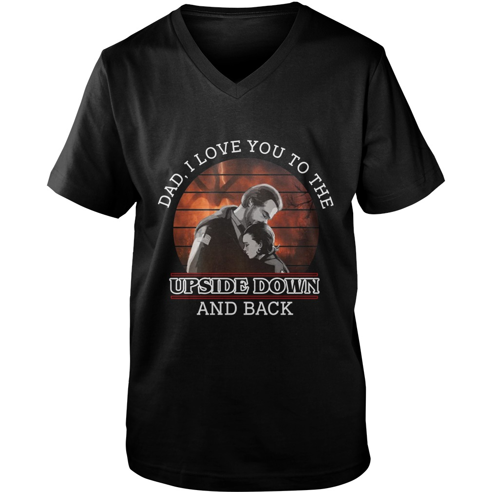 Dad i love you to the upside down and back guy v-neck