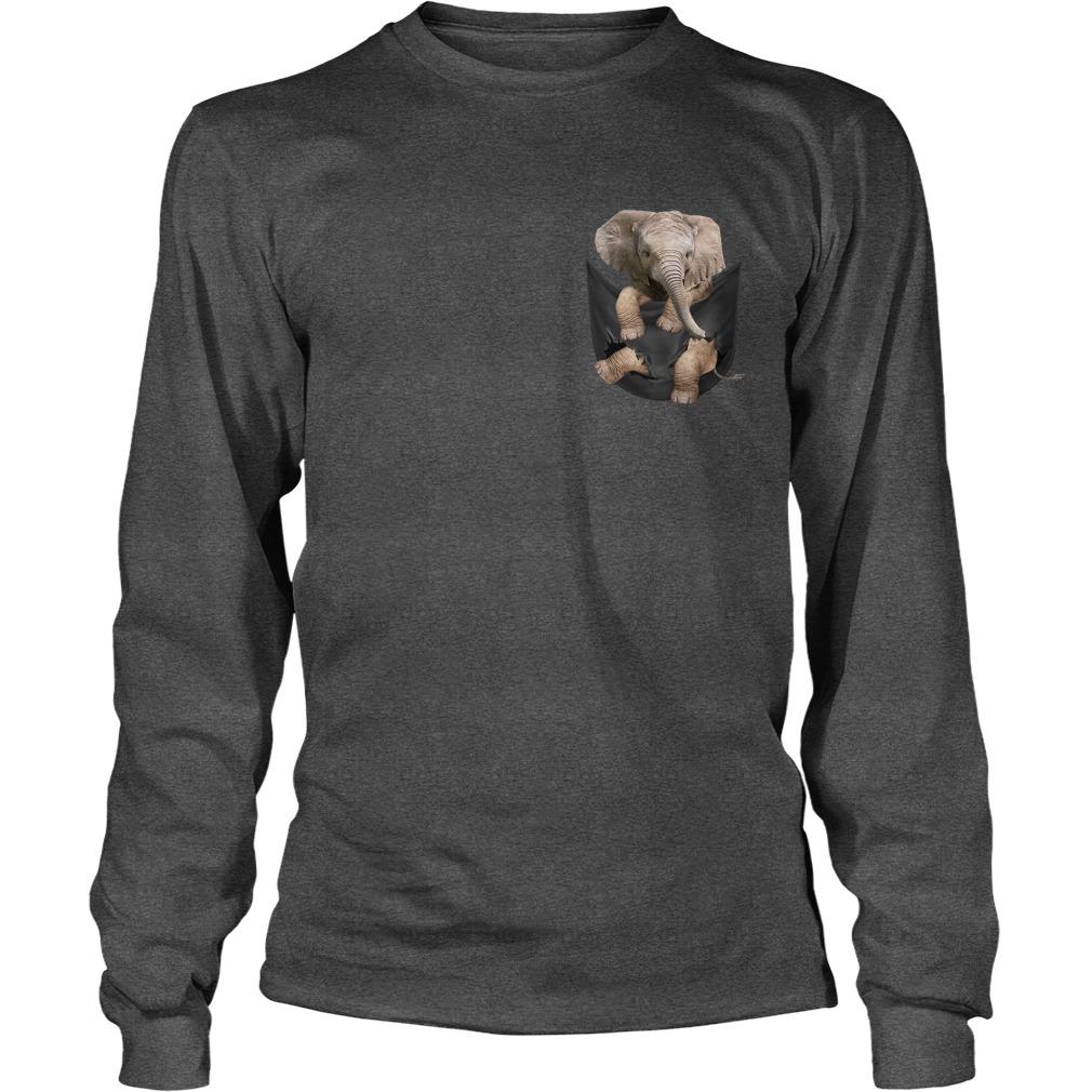Elephant Pocket longsleeve tee