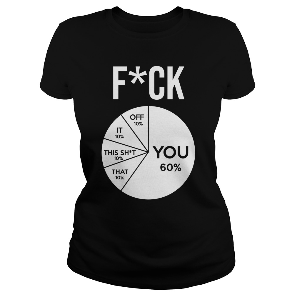 Fuck Pie Chart Fuck you Fuck off Fuck it Fuck this shit Fuck that lady shirt