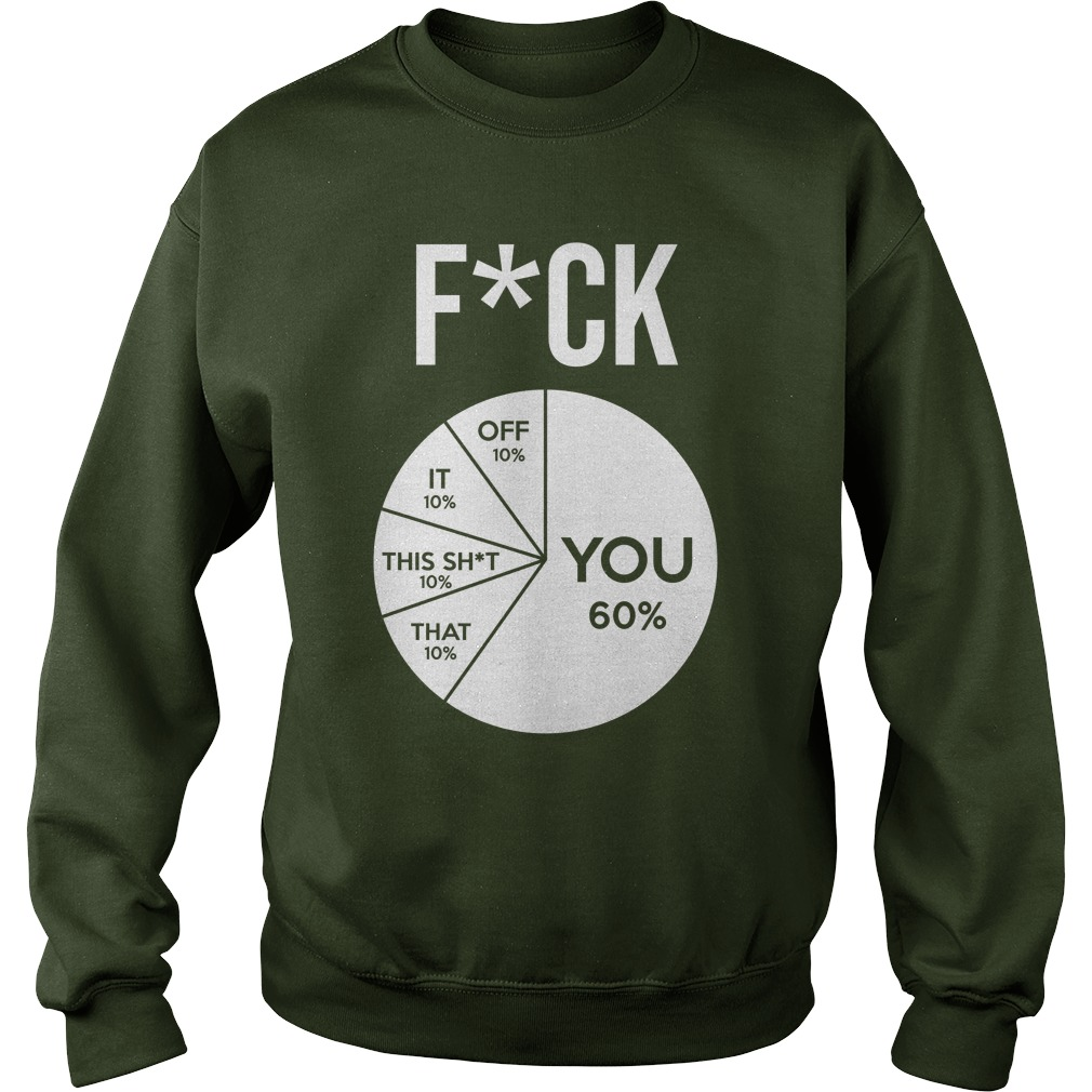Fuck Pie Chart Fuck you Fuck off Fuck it Fuck this shit Fuck that sweatshirt