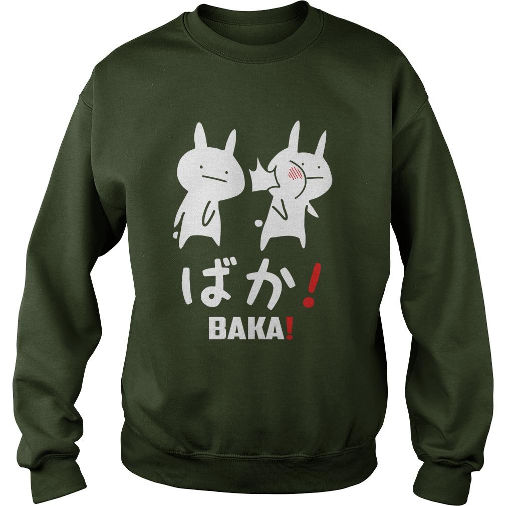 Funny anime baka rabbit slap sweatshirt