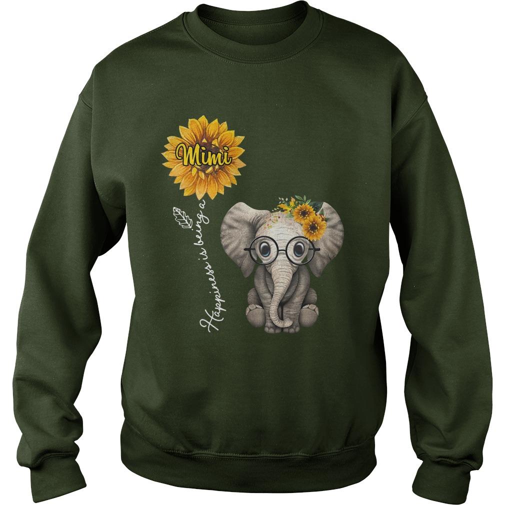 Happiness is being a Mimi sunflower elephant sweatshirt
