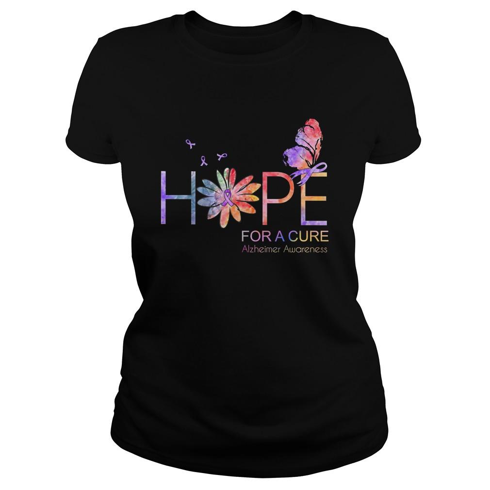Hope for a cure Alzheimer Awareness lady shirt