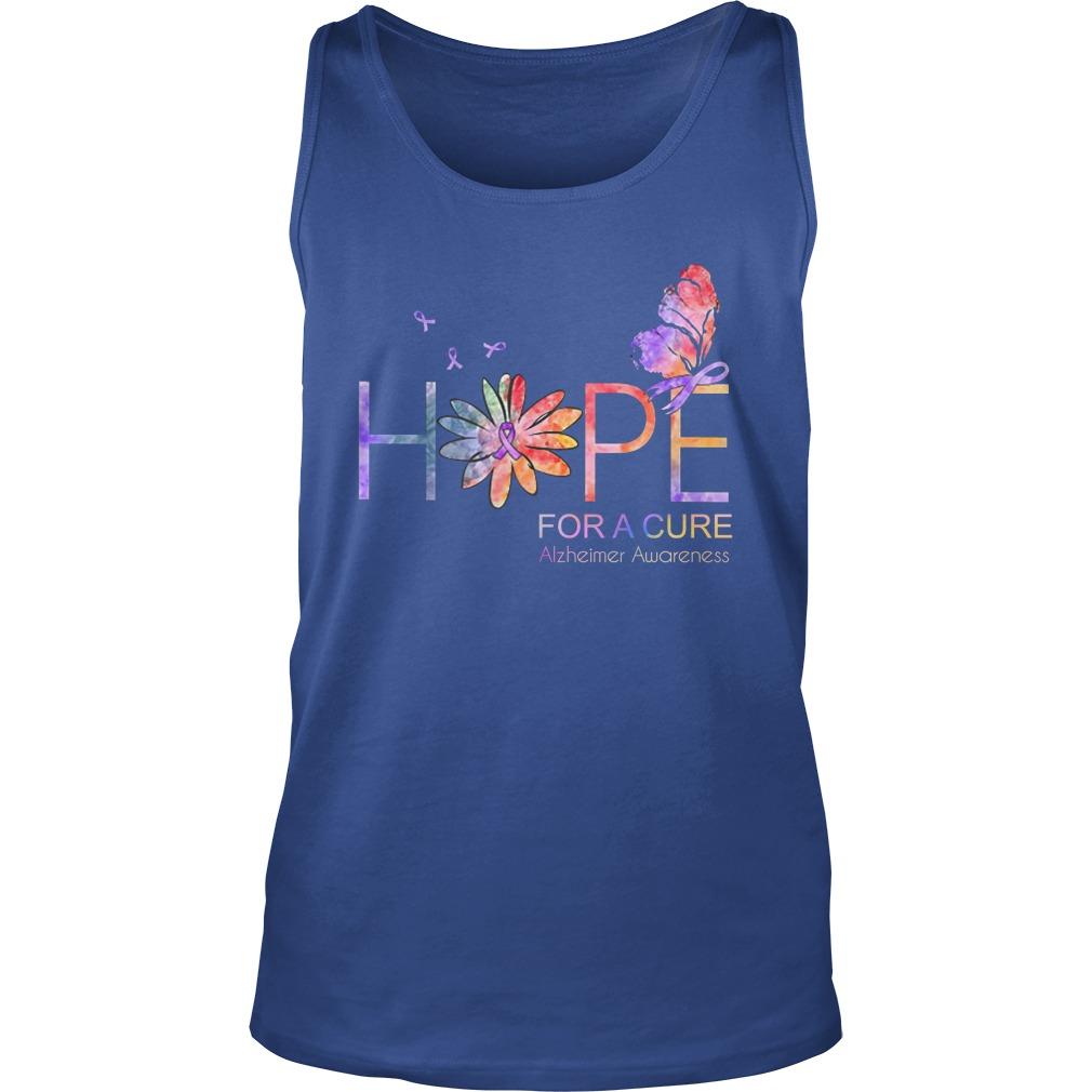 Hope for a cure Alzheimer Awareness tank top