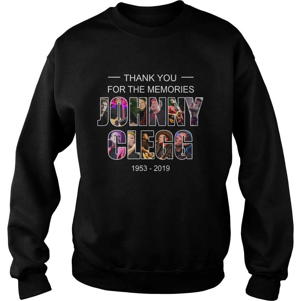 Johnny Clegg thank you for the memories 1953 2019 sweatshirt