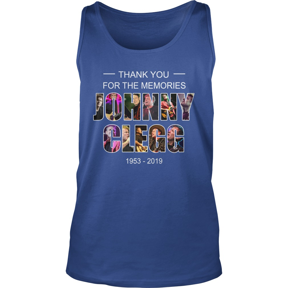 Johnny Clegg thank you for the memories 1953 2019 tank top
