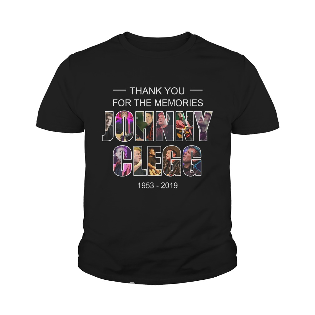 Johnny Clegg thank you for the memories 1953 2019 youth tee