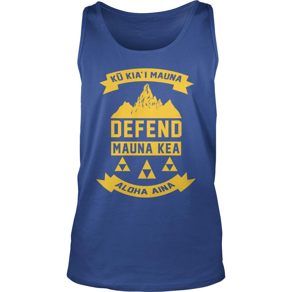 Ku Kiai Mauna Defend Mauna Kea Aloha Aina tank top