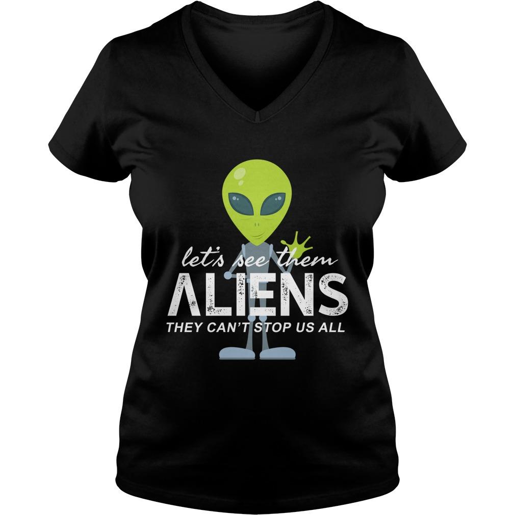 Let's see them aliens lady v-neck