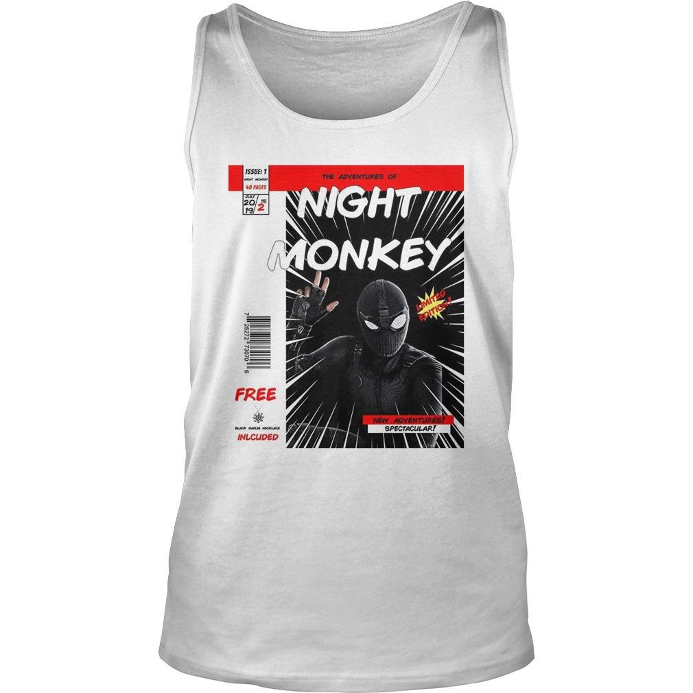 Night monkey far from home comic book tank top