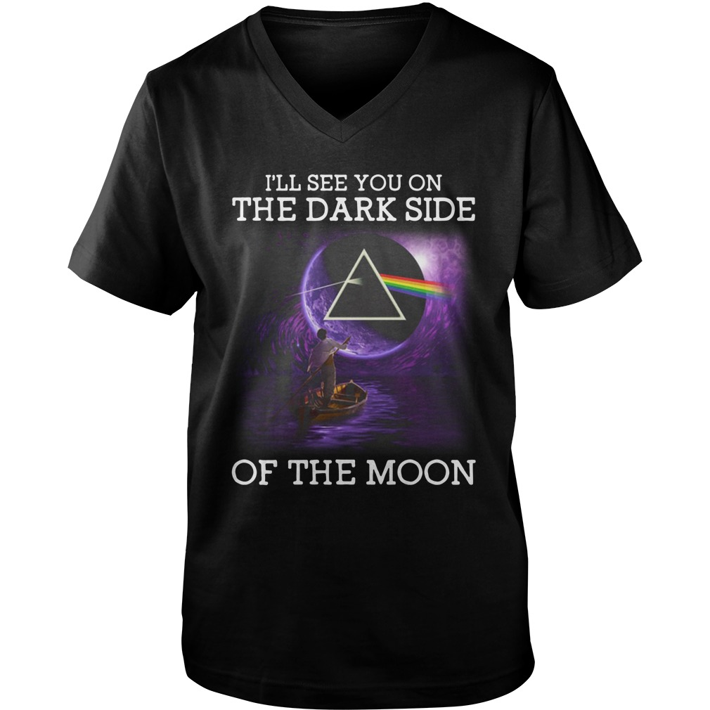 Pink Floyd I'll See You On The Dark Side Of The Moon guy v-neck