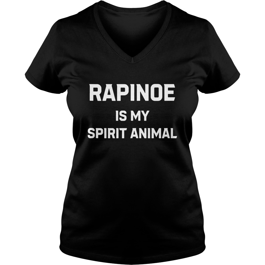 Rapinoe Is My Spirit Animal lady v-neck