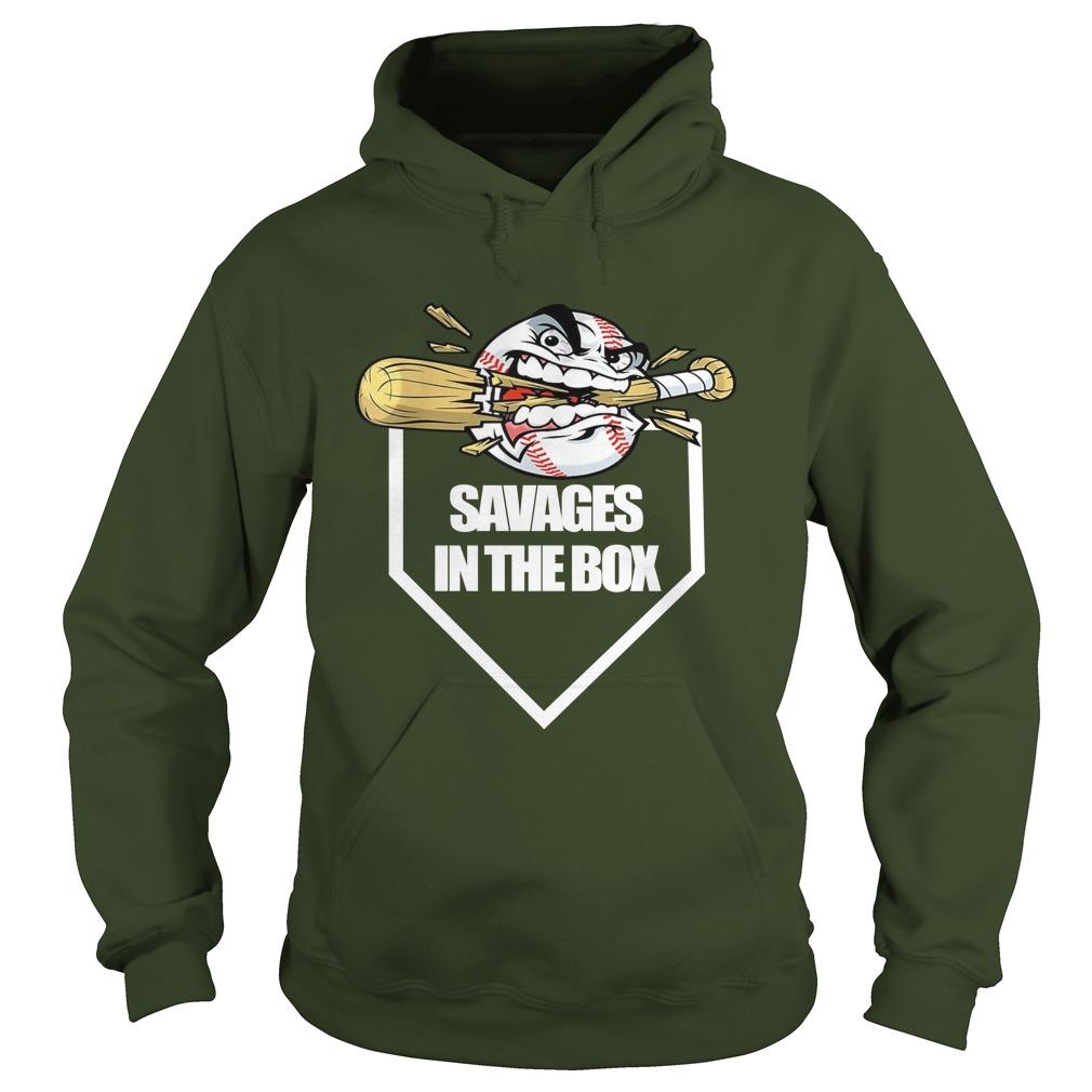 Savages in the box new york beasball hoodie