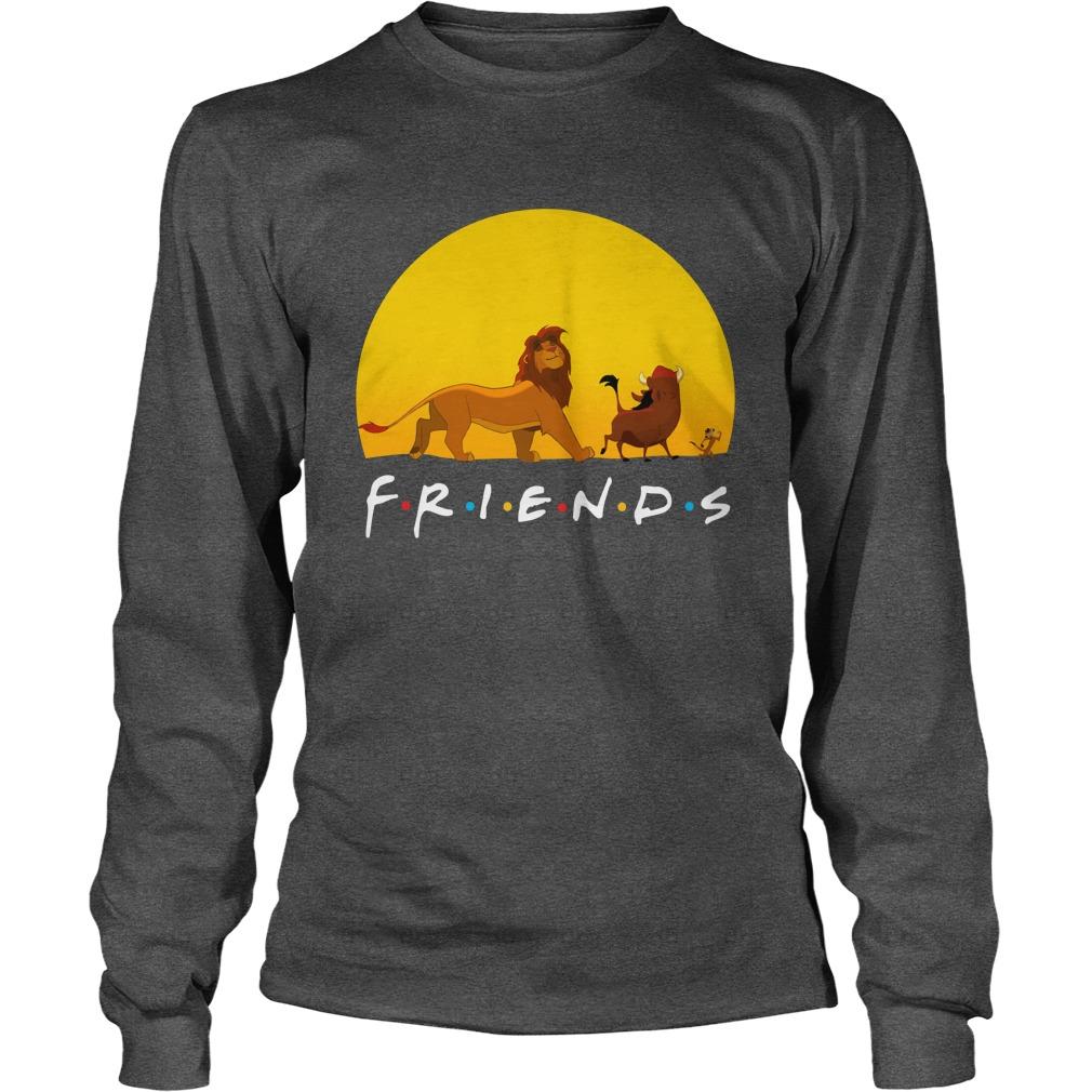 Simba Pumbaa and Timon The Lion King Friends longsleeve tee