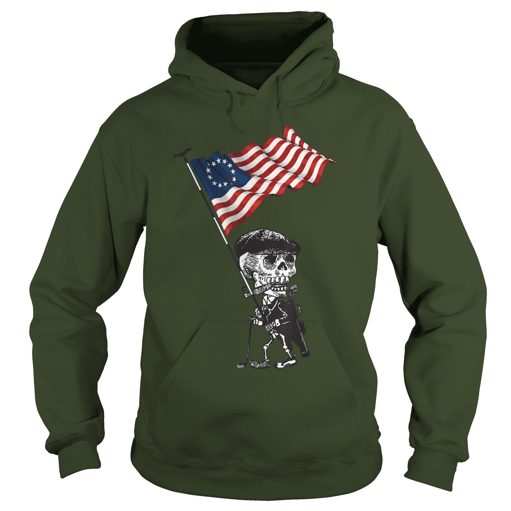 Skeleton betsy ross flag hoodie