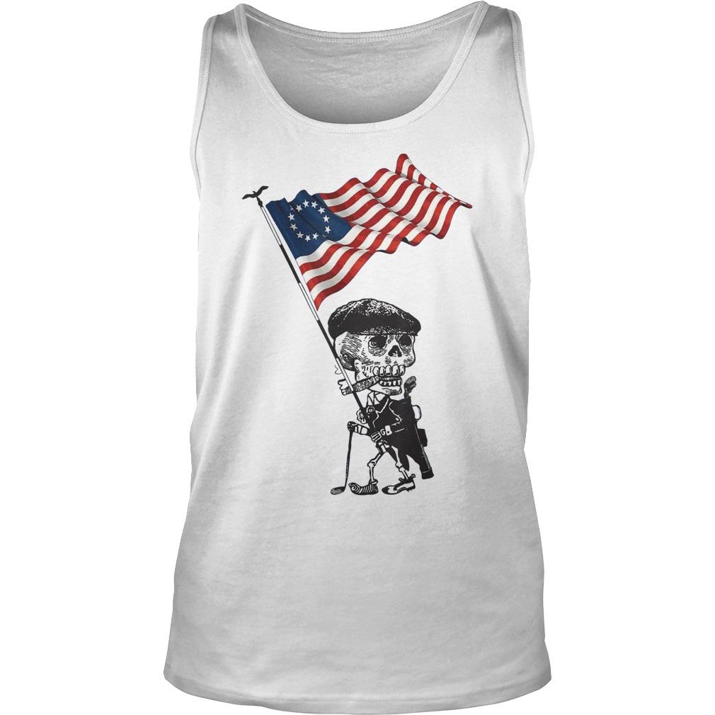 Skeleton betsy ross flag tank top