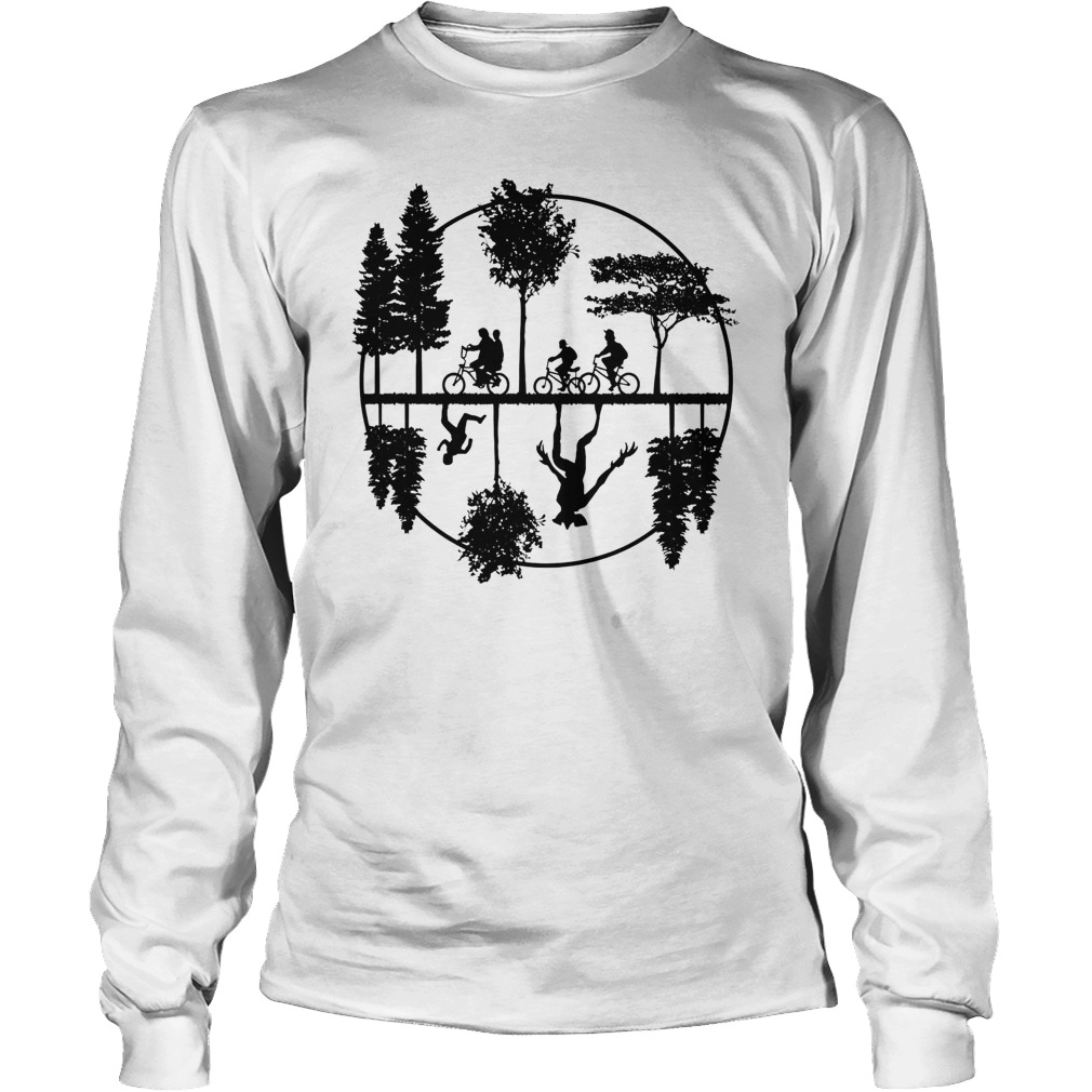 Stranger style pop culture with a world upside down longsleeve tee