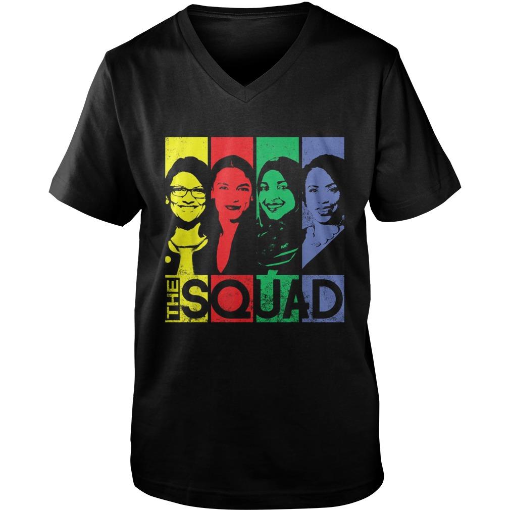 The Squad AOC Rashida Tlaib Omar Ilhan Ayanna guy v-neck