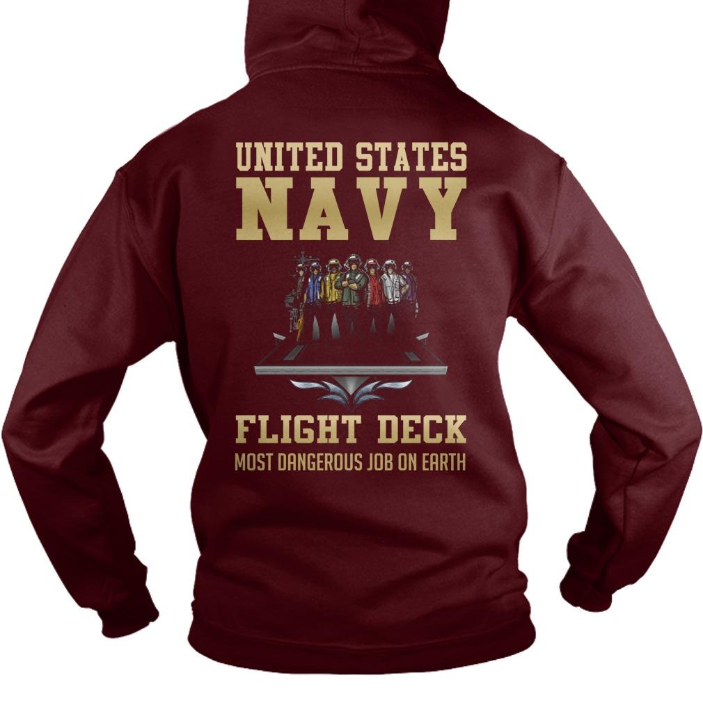 United States Navy Flight Deck Most Dangerous Job On Earth hoodie