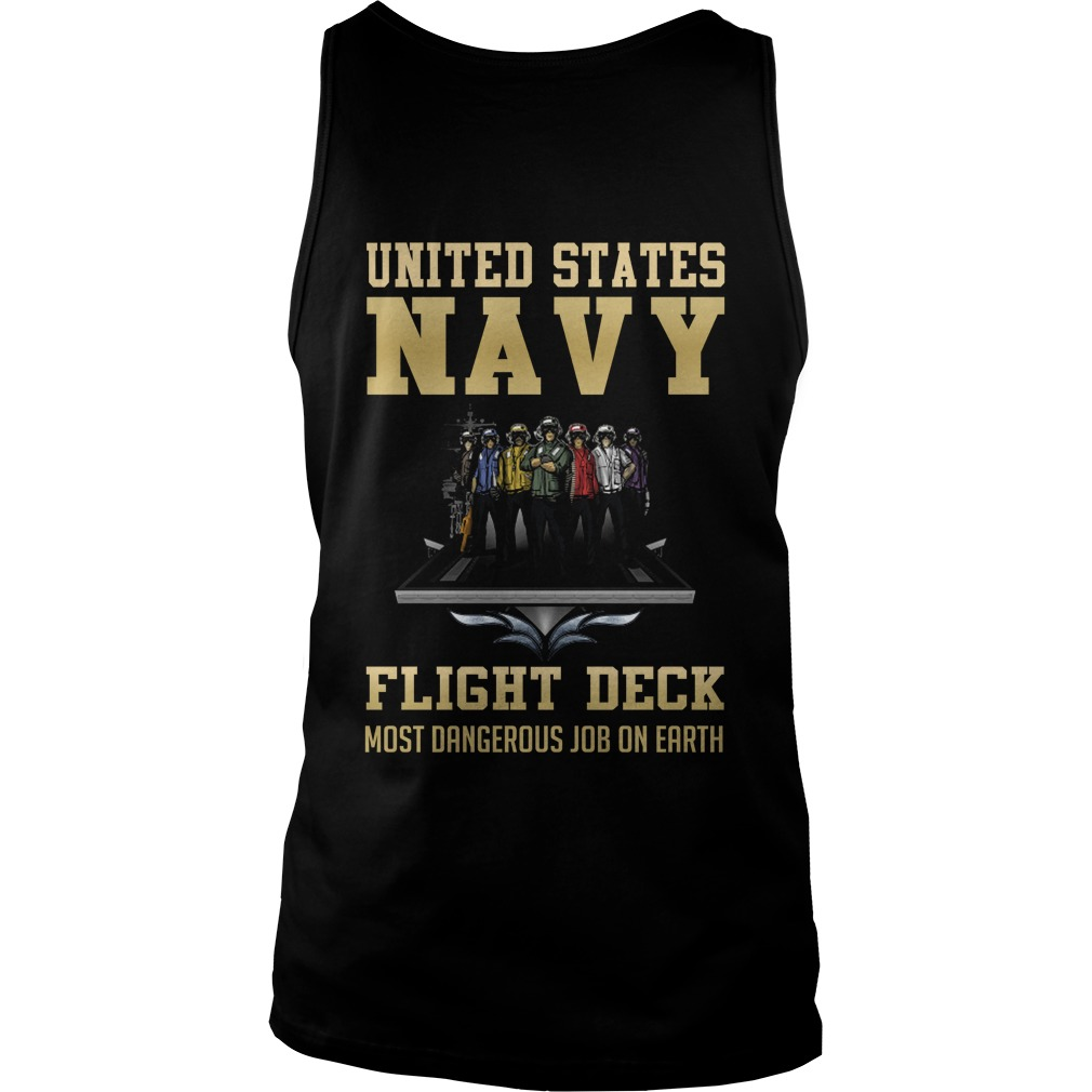United States Navy Flight Deck Most Dangerous Job On Earth tank top