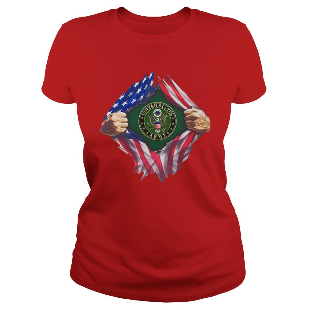 United states army inside me lady shirt