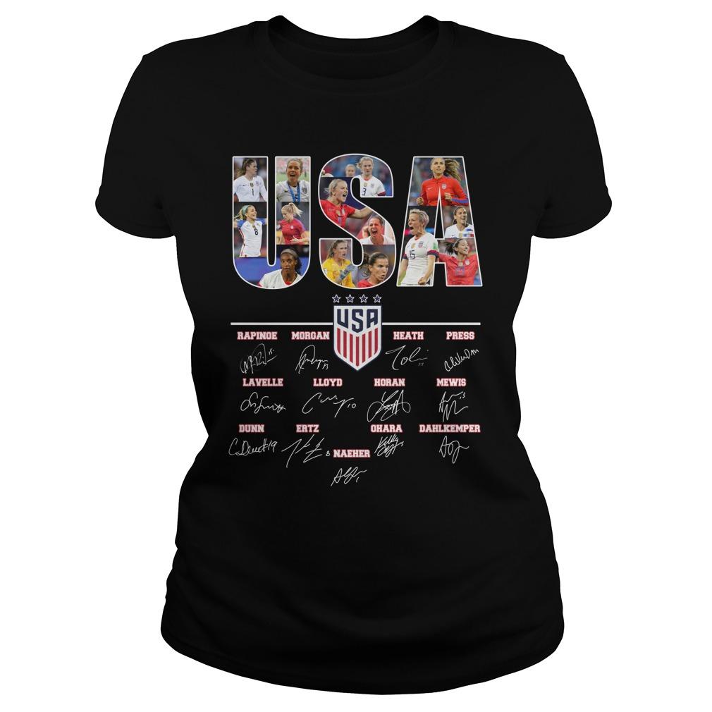 Usa Team Soccer Women 2019 Signature lady shirt