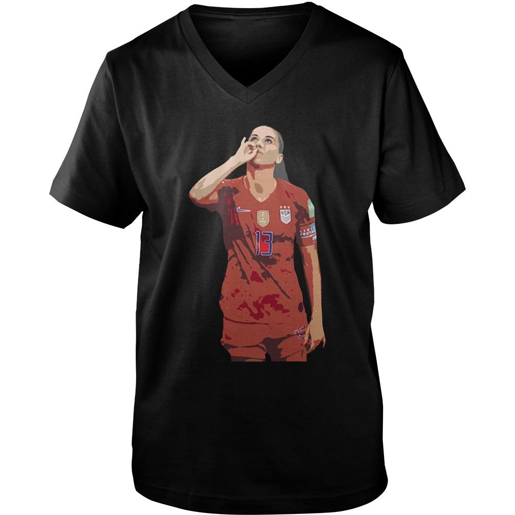 Usa women soccer player alex morgan no 13 guy v-neck