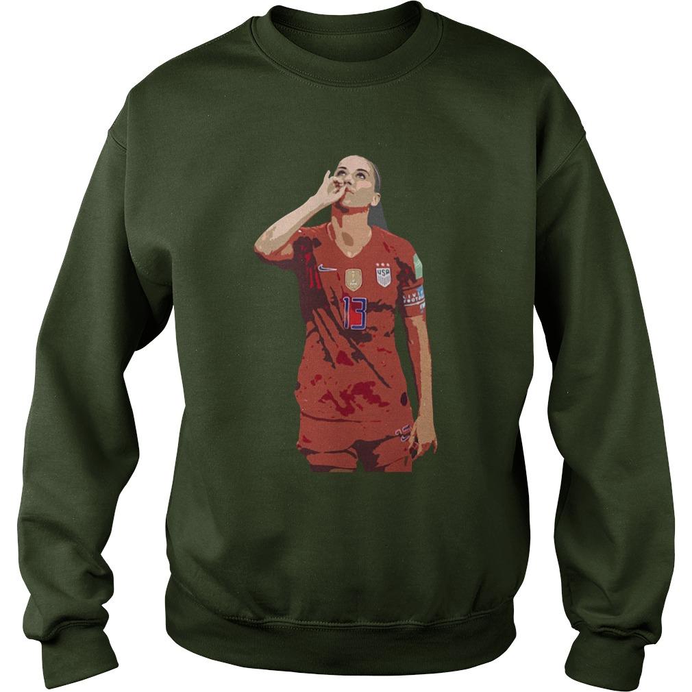 Usa women soccer player alex morgan no 13 sweatshirt