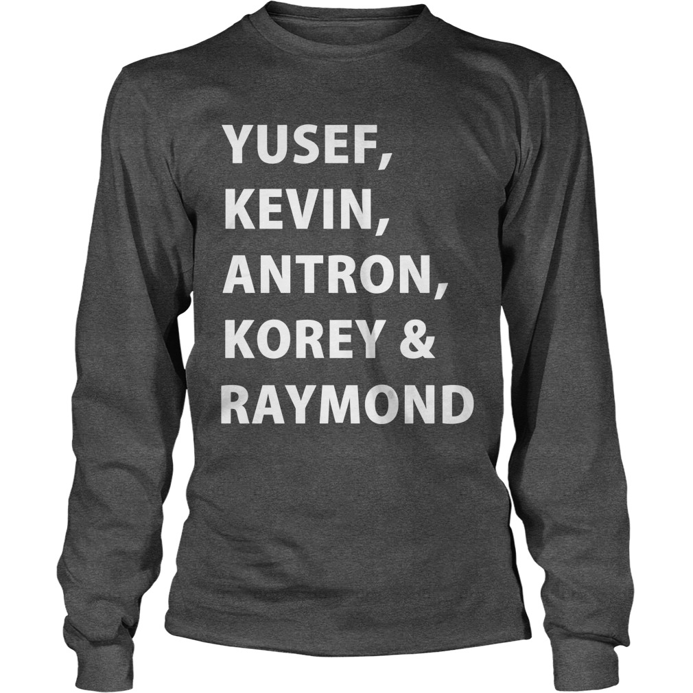 Yusef, Kevin, Antron, Korey, Raymond longsleeve tee