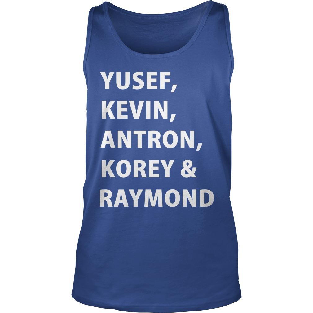 Yusef, Kevin, Antron, Korey, Raymond tank top