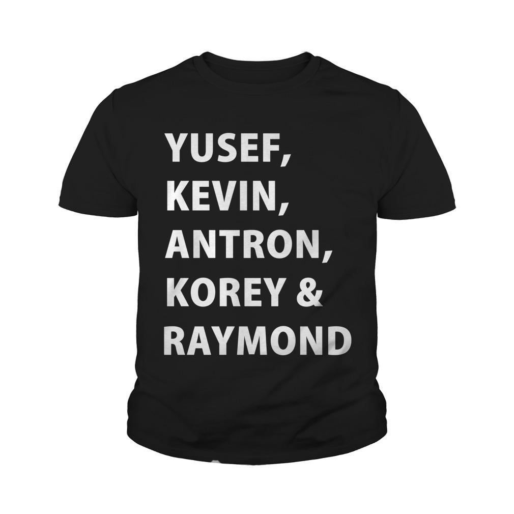 Yusef, Kevin, Antron, Korey, Raymond youth tee