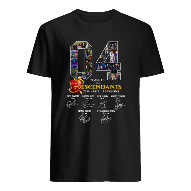 04 years of Descendants 2015-2019 3 seasons signature men's shirt
