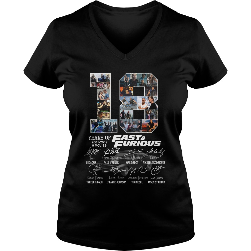 18 year of fast and furious lady v-neck