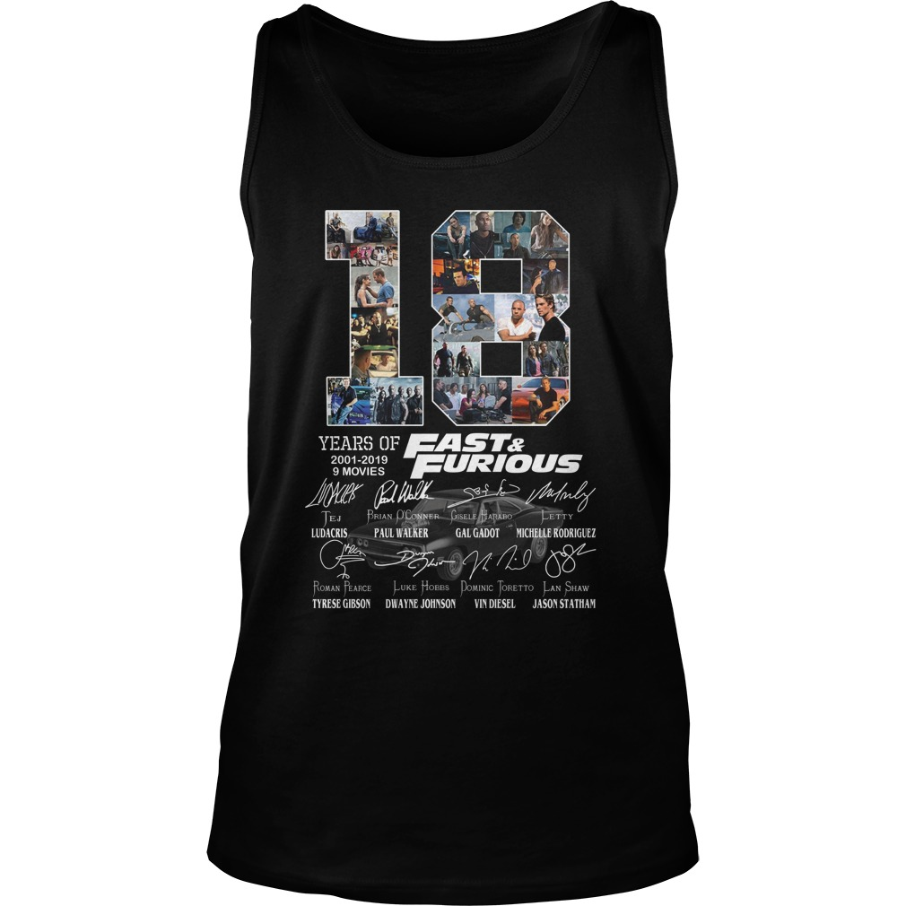 18 year of fast and furious tank top
