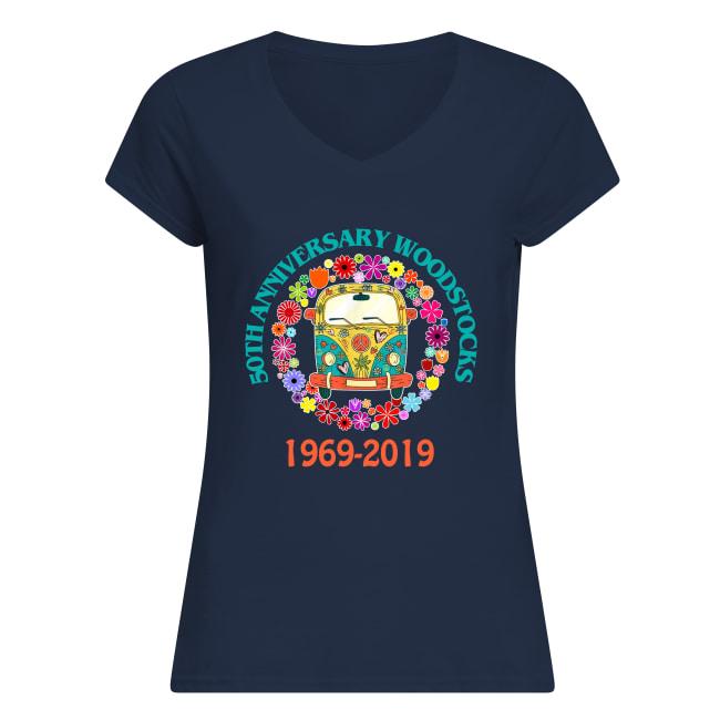 50th anniversary Woodstock 1969 2019 women's v-neck