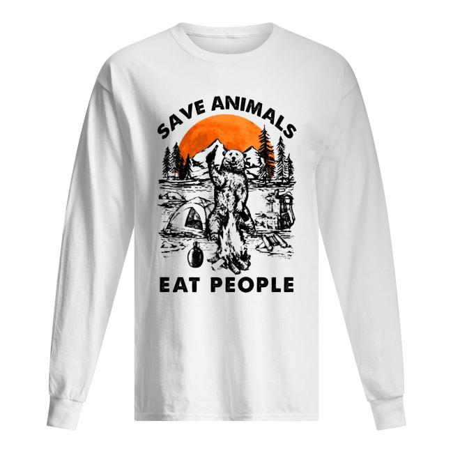 Bear camping save animal eat people long sleeved