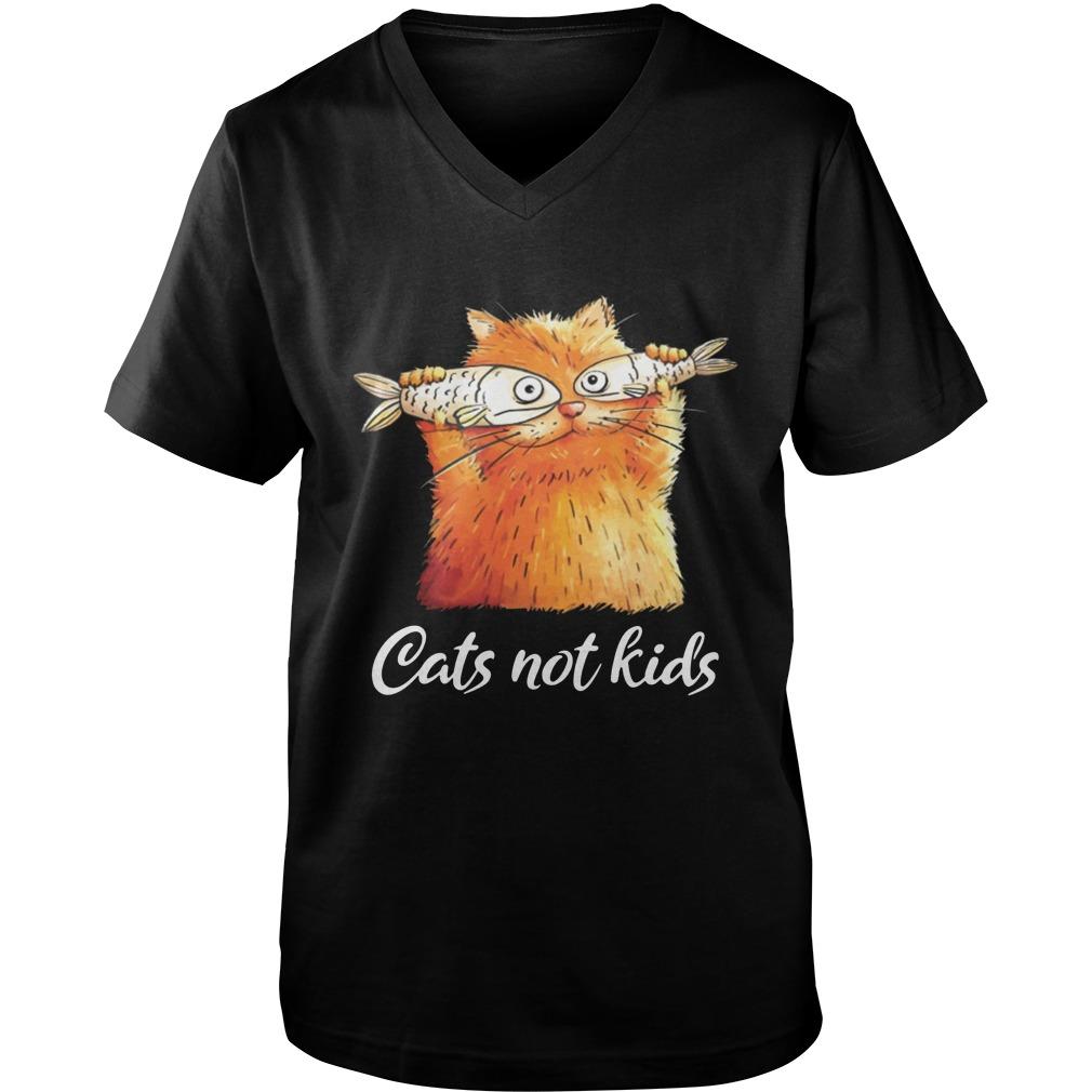 Cats not kids guy v-neck