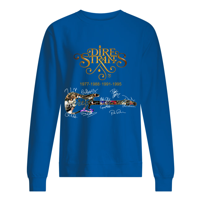 Dire Straits 1977 1988 1991 1995 signature sweatshirt