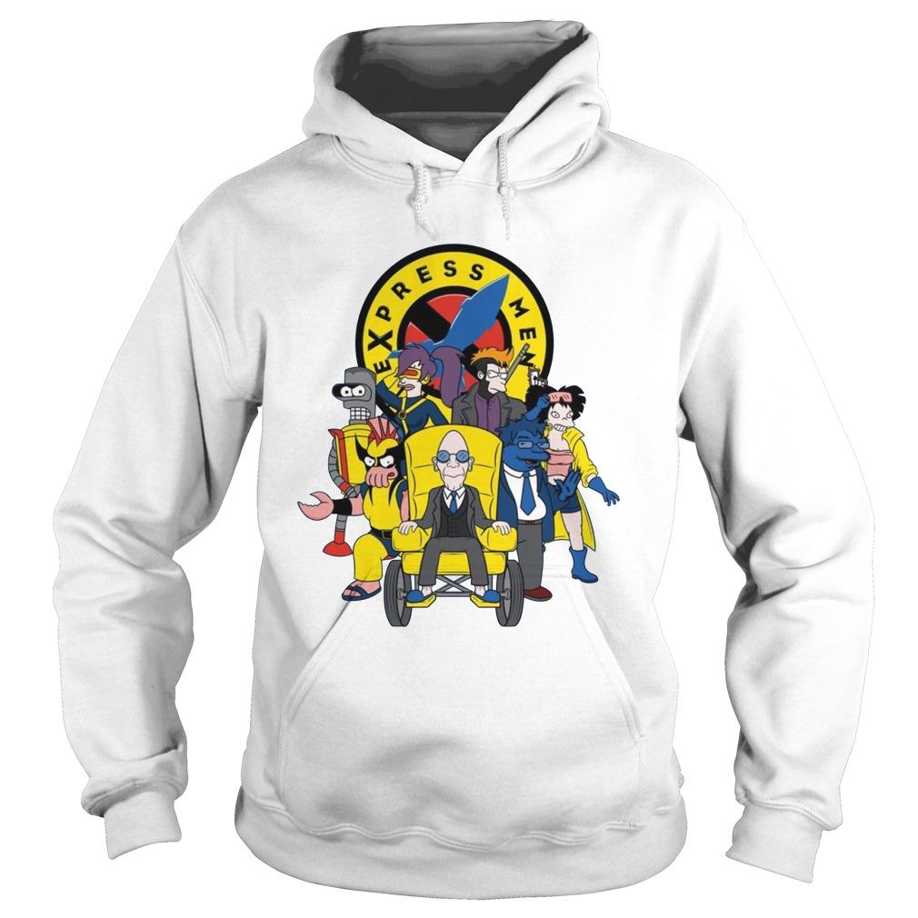 Express Men futurama X-Men hoodie