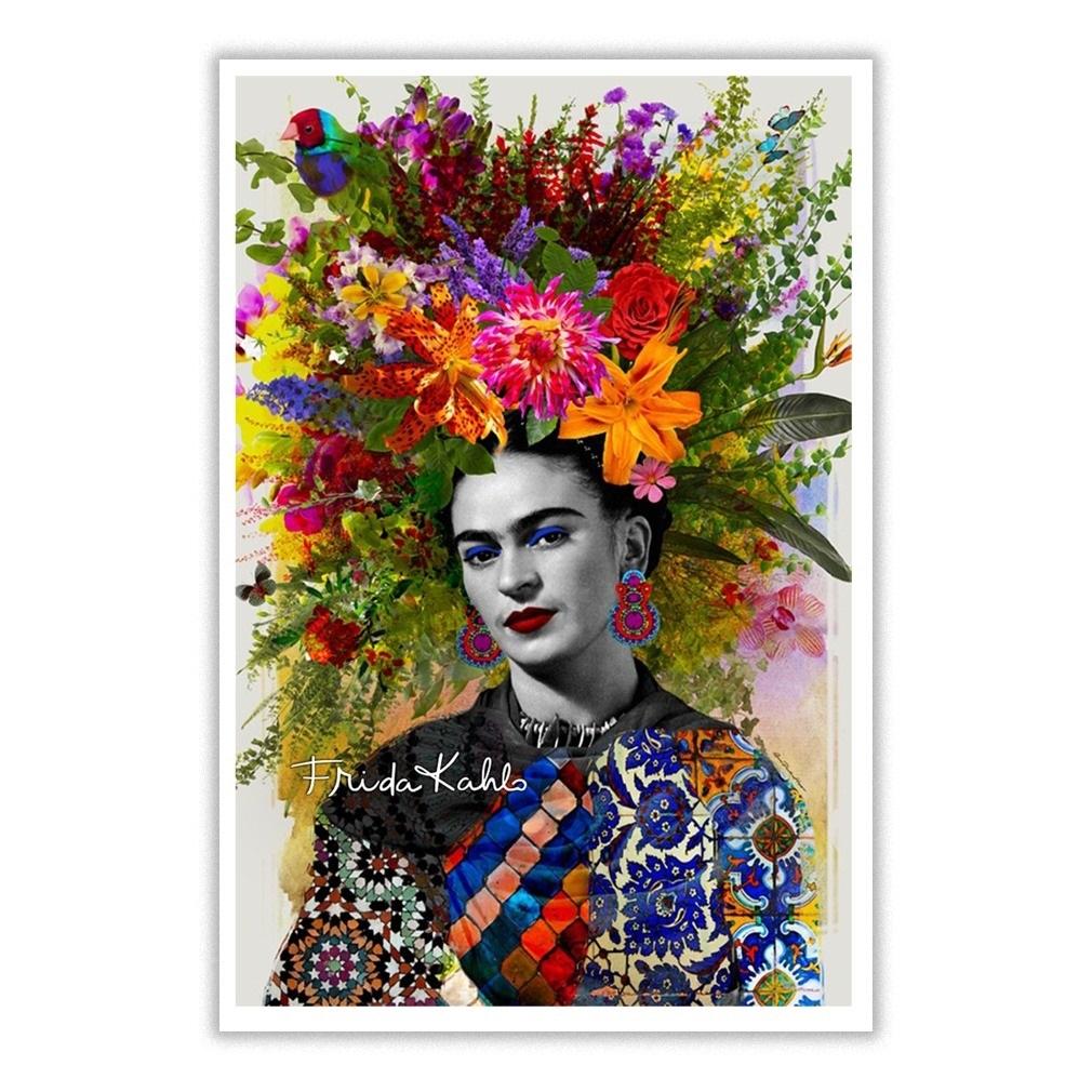 Floral Frida Kahlo Poster