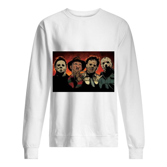 Freddy Jason Michael Myers and Leatherface squad sweatshirt