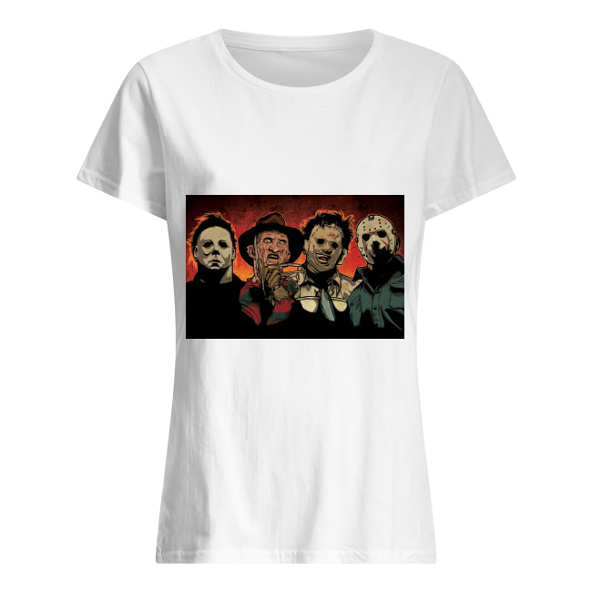Freddy Jason Michael Myers and Leatherface squad women's shirt