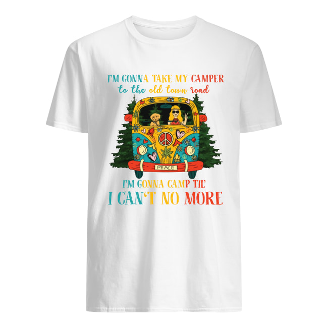 Hippie i'm gonna take my camper to the old town road men's shirt